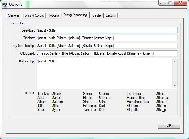 String formating Dialog